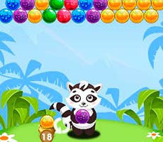 Raccoon Rescue Bubble Shooter